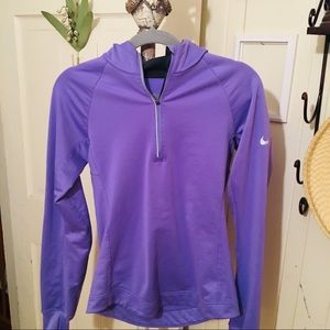 Nike DryFit Hoody -S violet hoody, poly